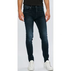 Pepe Jeans - Jeansy Nickel. Niebieskie rurki męskie Pepe Jeans, z aplikacjami, z bawełny. Za 399,90 zł.
