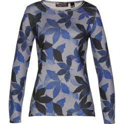 Sweter bonprix jasnoszary z nadrukiem. Szare swetry klasyczne damskie marki bonprix, z dzianiny. Za 69,99 zł.