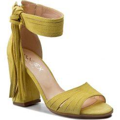 Rzymianki damskie: Sandały ANN MEX – 7904 10W Żółty