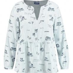 Bluzka w kolorze kremowym. Białe bluzki z odkrytymi ramionami SAMOON. W wyprzedaży za 130,95 zł.