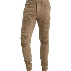 Jeansy męskie regular: Sixth June RED BANDANA Jeans Skinny Fit sand