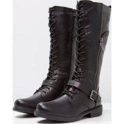 Anna Field Kozaki sznurowane black. Czarne buty zimowe damskie marki Anna Field, z materiału. Za 169,00 zł.