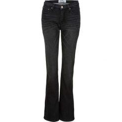 Dżinsy dresowe ocieplane BOOTCUT bonprix czarny. Czarne spodnie dresowe damskie bonprix, z dresówki. Za 149,99 zł.