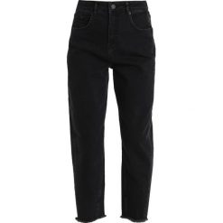 Boyfriendy damskie: Whistles HIGH WAIST BARREL LEG Jeansy Straight Leg black