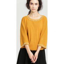Żółta Bluzka Understand You. Żółte bluzki asymetryczne other, l, z długim rękawem. Za 89,99 zł.