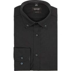 Koszula bexley 2285 długi rękaw slim fit czarny. Czarne koszule męskie slim marki Cropp, l. Za 129,00 zł.