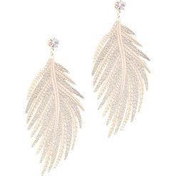 Biżuteria i zegarki damskie: Złote Kolczyki Autumn Leaf