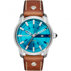 Zegarek DIESEL - Armbar DZ1815 Brown/Silver. Brązowe zegarki męskie Diesel. Za 589,00 zł.