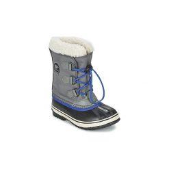 Śniegowce Dziecko Sorel  YOOT PAC NYLON. Szare buty zimowe chłopięce Sorel, z nylonu. Za 261,80 zł.
