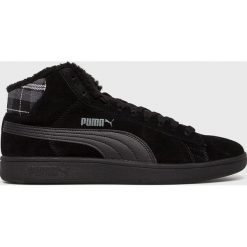 Puma - Buty Smash v2 Mid. Czarne buty skate męskie Puma, z materiału, na sznurówki. W wyprzedaży za 239,90 zł.