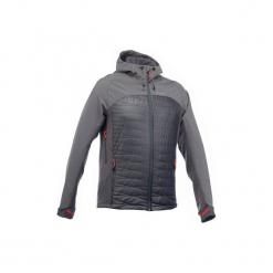 Kurtka Softshell trekkingowa TREK 900 hybrid męska. Szare kurtki męskie outdoor marki WED'ZE, m, z elastanu. Za 249,99 zł.