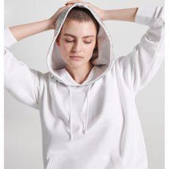 Bluzy rozpinane damskie: Bluza ze srebrnym kapturem - Biały