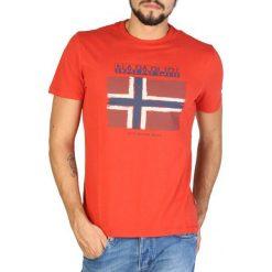 Napapijri T-Shirt Męski M Pomarańczowy. Szare t-shirty męskie marki Napapijri, l, z materiału, z kapturem. Za 189,00 zł.