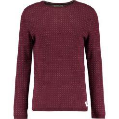 Swetry klasyczne męskie: TOM TAILOR DENIM MINI CREWNECK Sweter deep burgundy red
