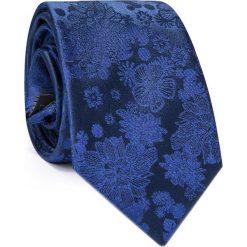 Jedwabny krawat KWNR000281. Niebieskie krawaty męskie Giacomo Conti, z jedwabiu, eleganckie. Za 129,00 zł.