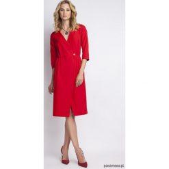 ELEGANCKA SUKIENKA, SUK131 czerwony. Czerwone sukienki balowe Pakamera, s, midi. Za 183,00 zł.