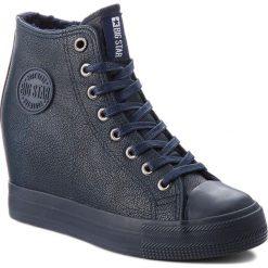Sneakersy BIG STAR - BB274301 Granat. Niebieskie sneakersy damskie BIG STAR, z gumy. Za 129,00 zł.