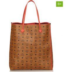 Torebki klasyczne damskie: Skórzana torebka w kolorze jasnobrązowym – 37 x 40 x 15 cm