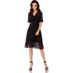 Czarna Elegancka Kopertowa Sukienka z Plisowanym Dołem. Brązowe sukienki balowe marki Mohito, l, z kopertowym dekoltem, kopertowe. Za 189,90 zł.