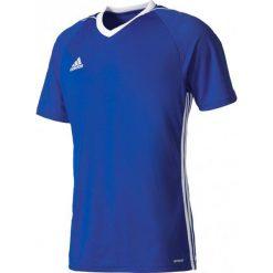 Odzież sportowa męska: Adidas Koszulka piłkarska męska Tiro 17 niebiesko-biała r. L (BK5439)
