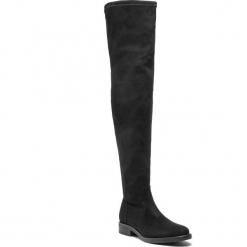 Muszkieterki POLLINI - SA26093G06T60000 Nero. Czarne buty zimowe damskie Pollini, z materiału, przed kolano, na wysokim obcasie, na obcasie. Za 1239,00 zł.