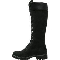 Timberland Kozaki sznurowane black. Czarne buty zimowe damskie marki Timberland, z materiału. Za 859,00 zł.