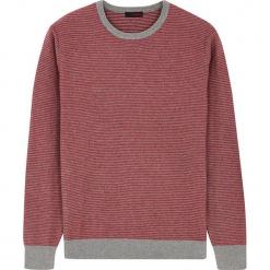Sweter w kolorze jagodowo-szarym. Czerwone swetry klasyczne męskie Rodier, m, z dzianiny, z okrągłym kołnierzem. W wyprzedaży za 108,95 zł.