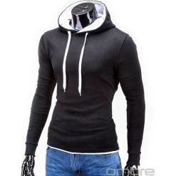 BLUZA MĘSKA Z KAPTUREM CAMILO - CZARNA. Czarne bluzy męskie rozpinane marki Ombre Clothing, m, z bawełny, z kapturem. Za 49,00 zł.