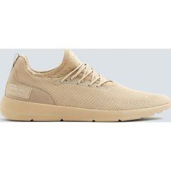 Beżowe buty sportowe w stylu skarpety. Brązowe halówki męskie marki NABAIJI, z elastanu. Za 129,00 zł.