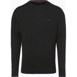 Tommy Hilfiger - Sweter męski, szary. Szare swetry klasyczne męskie TOMMY HILFIGER, m, z klasycznym kołnierzykiem. Za 549,95 zł.
