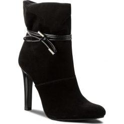 Botki BADURA - 7606-69-121 Czarny. Czarne buty zimowe damskie Badura, z materiału, na obcasie. W wyprzedaży za 309,00 zł.