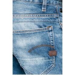 G-Star Raw - Jeansy D-staq. Niebieskie jeansy męskie z dziurami marki G-Star RAW. W wyprzedaży za 349,90 zł.
