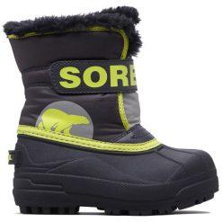 Sorel Chłopięce Śniegowce Snow Commander, 28, Szare/Żółte. Białe buty zimowe chłopięce Sorel. Za 269,00 zł.