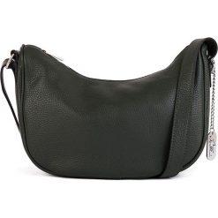 Torebki klasyczne damskie: Skórzana torebka w kolorze ciemnozielonym - 28 x 20 x 11 cm