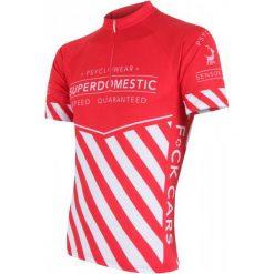 Sensor Koszulka Rowerowa Superdomestic Red Xxl. Niebieskie odzież rowerowa męska marki Oakley, na lato, z bawełny, eleganckie. Za 179,00 zł.