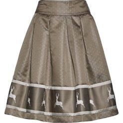 Spódnica satynowa w rustykalnym stylu bonprix jasnooliwkowo-srebrny. Zielone spódnice wieczorowe bonprix, z satyny. Za 124,99 zł.