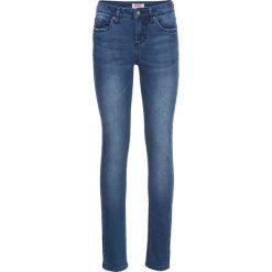 Dżinsy SKINNY bonprix niebieski. Niebieskie jeansy damskie marki House, z jeansu. Za 89,99 zł.