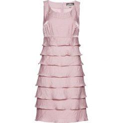 Sukienki hiszpanki: Sukienka bonprix matowy jasnoróżowy