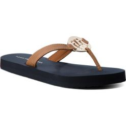 Chodaki damskie: Japonki TOMMY HILFIGER - Metal Hardware Beach Sandal FW0FW02389  Cognac 606