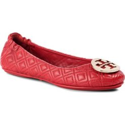 Baleriny TORY BURCH - Quilted Minnie 50736 Brillant Red/Gold 601. Czerwone baleriny damskie Tory Burch, ze skóry. W wyprzedaży za 829,00 zł.