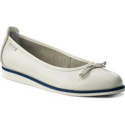 Baleriny NESSI - 77706 Biały 411. Białe baleriny damskie lakierowane Nessi, ze skóry, na płaskiej podeszwie. W wyprzedaży za 189,00 zł.