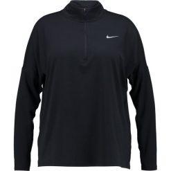 Nike Performance RUNNING DRY PLUS SIZE Koszulka sportowa black. Czarne t-shirty damskie Nike Performance, plus size, z elastanu, z długim rękawem. Za 219,00 zł.