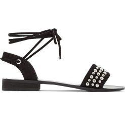 Rzymianki damskie: Sandały z ćwiekami na szeroką stopę 38-45