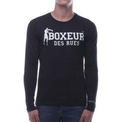 BOXEUR Koszulka długi rękaw czarna r.S (BXE-2809F). Czarne t-shirty męskie BOXEUR, m, z długim rękawem. Za 91,87 zł.