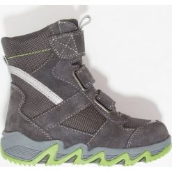 Lurchi SAMUELSYMPATEX Śniegowce charcoal. Czarne buty zimowe chłopięce marki Lurchi, z materiału. W wyprzedaży za 189,50 zł.