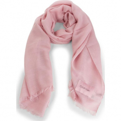 Szal CALVIN KLEIN - Sparkling Scarf  K60K604908 Pastel Pink 639. Czerwone szaliki damskie Calvin Klein, z materiału. Za 279,00 zł.