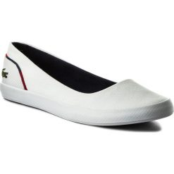 Baleriny damskie lakierowane: Baleriny LACOSTE – Lancelle Ballerina 1181 White/Navy/Red