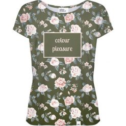 Colour Pleasure Koszulka damska CP-034 266 różowo-zielona r. XXXL/XXXXL. Fioletowe bluzki damskie marki Colour pleasure, uniwersalny. Za 70,35 zł.
