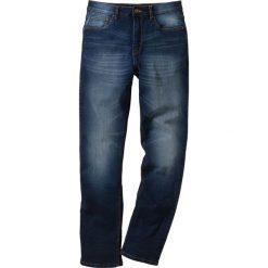 Dżinsy ze stretchem Classic Fit Straight bonprix ciemnoniebieski. Niebieskie jeansy męskie relaxed fit marki bonprix. Za 109,99 zł.