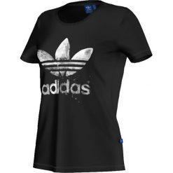 Adidas Originals Koszulka damska T-Shirt Drip Trefoil czarna r. S (AJ8951). Szare topy sportowe damskie marki adidas Originals, na co dzień, z nadrukiem, z bawełny, casualowe, z okrągłym kołnierzem, proste. Za 97,24 zł.